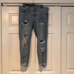 Gap distressed boyfriend jeans, size 12!